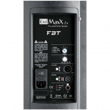 FBT Powered Speaker Back View EvoMax 2
